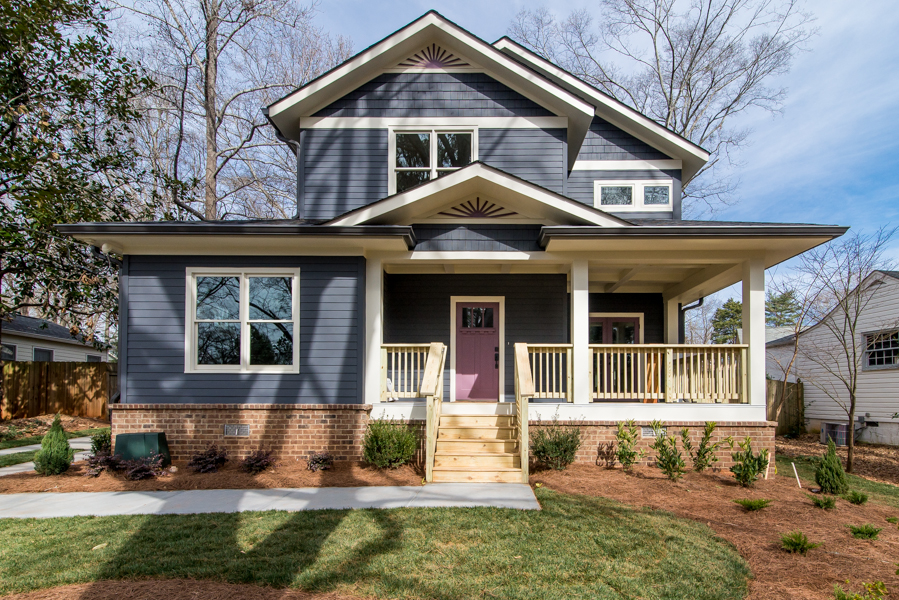 Blue House with Purple Door & Blue House with Purple Door - Arlene Dean Homes